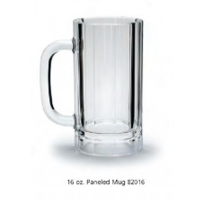 Plastic Beer Mugs - 20 oz. Paneled (Case of 12)