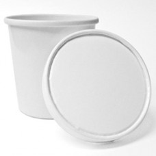 White Paper To Go Container w/Lid - Pint 16 oz  (250 Cups & Lids)