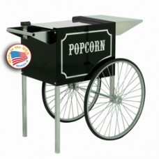 Popcorn Popper Carts - Old Fashion Black & Chrome 4 oz & 6/8 oz