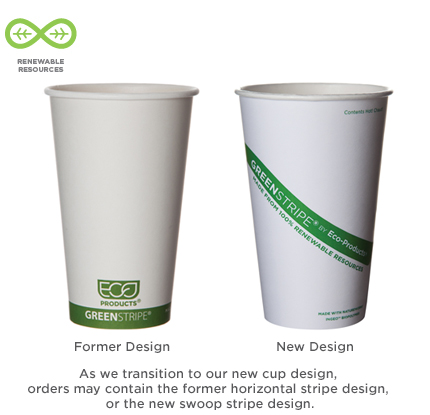 20 oz. Eco GreenStripe Hot Cups-1000 Ct.